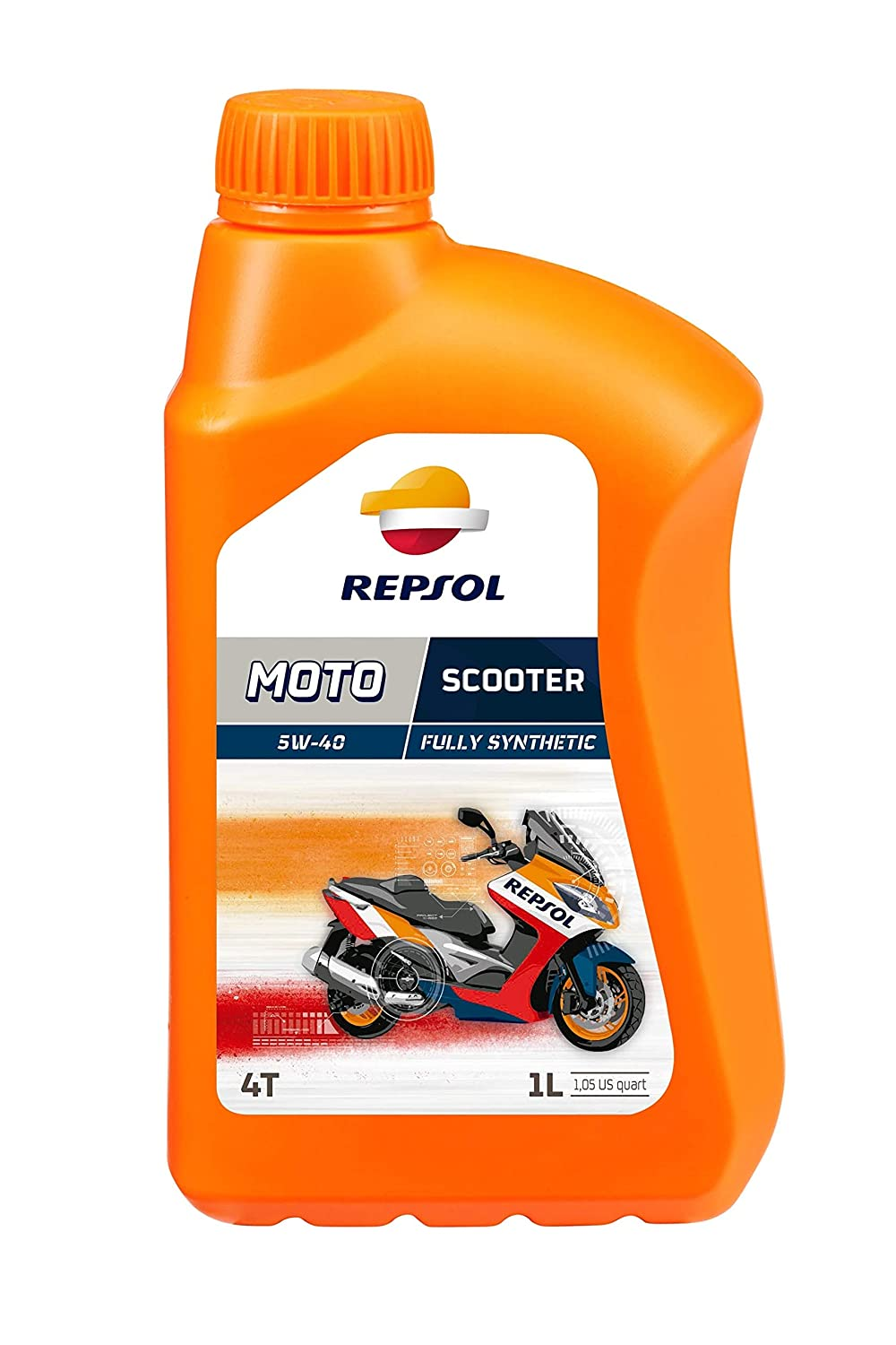 Repsol Moto Scooter 4T 5W40 Motorcycle Engine Oil 1 L Repsol S.A. RP164L51