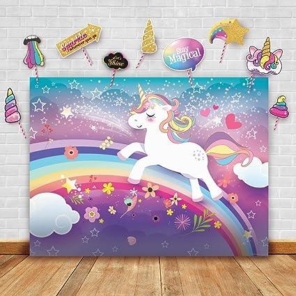Amazoncom Magical Unicorn Theme Photography Backdrop And Studio