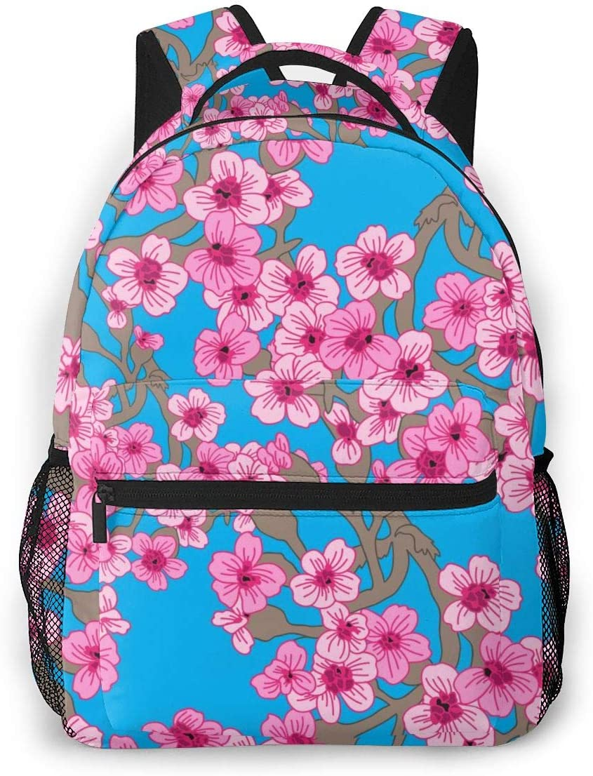 Water Resistant Casual Daypack Rucksack Gym Bag for Women//Girls//Business//Travel Laptop Backpack,15.6 Inch Stylish College School Backpack Seamless Hand Drawn Flowers