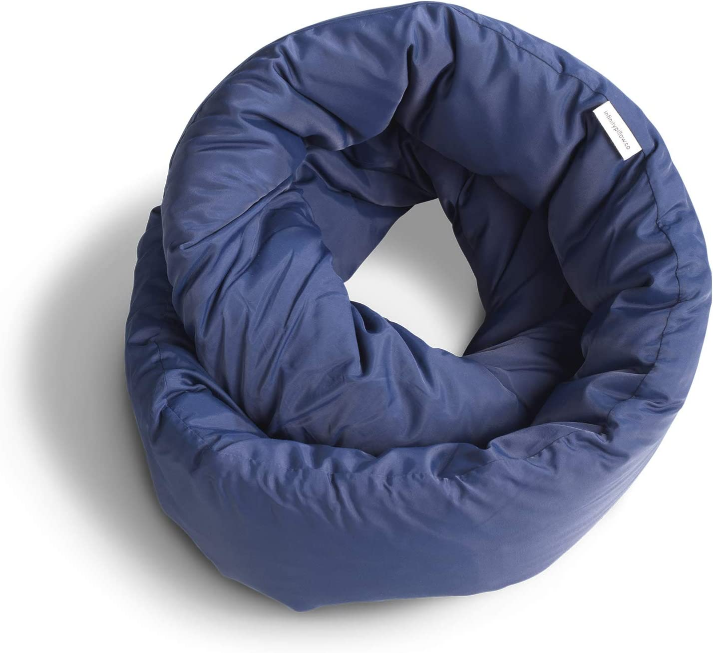 Huzi Infinity Pillow - Home Travel Soft Neck Scarf Support Sleep Nap (Navy)