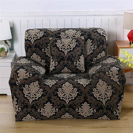 Funda de sofá elástica de algodón con patrón de Color Rojo ...