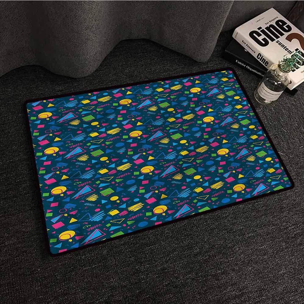 Amazon.com: Dark Blue,Door mat Thin Low Profile ...