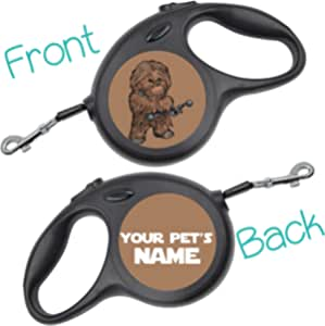 Disney Star Wars Darth Vader Retractable Dog Walking Leash Personalized for Your Pet