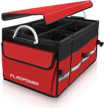 FLAGPOWER Car Boot Organiser Large Capacity Heavy Durty Boot Tidy Storage Bag