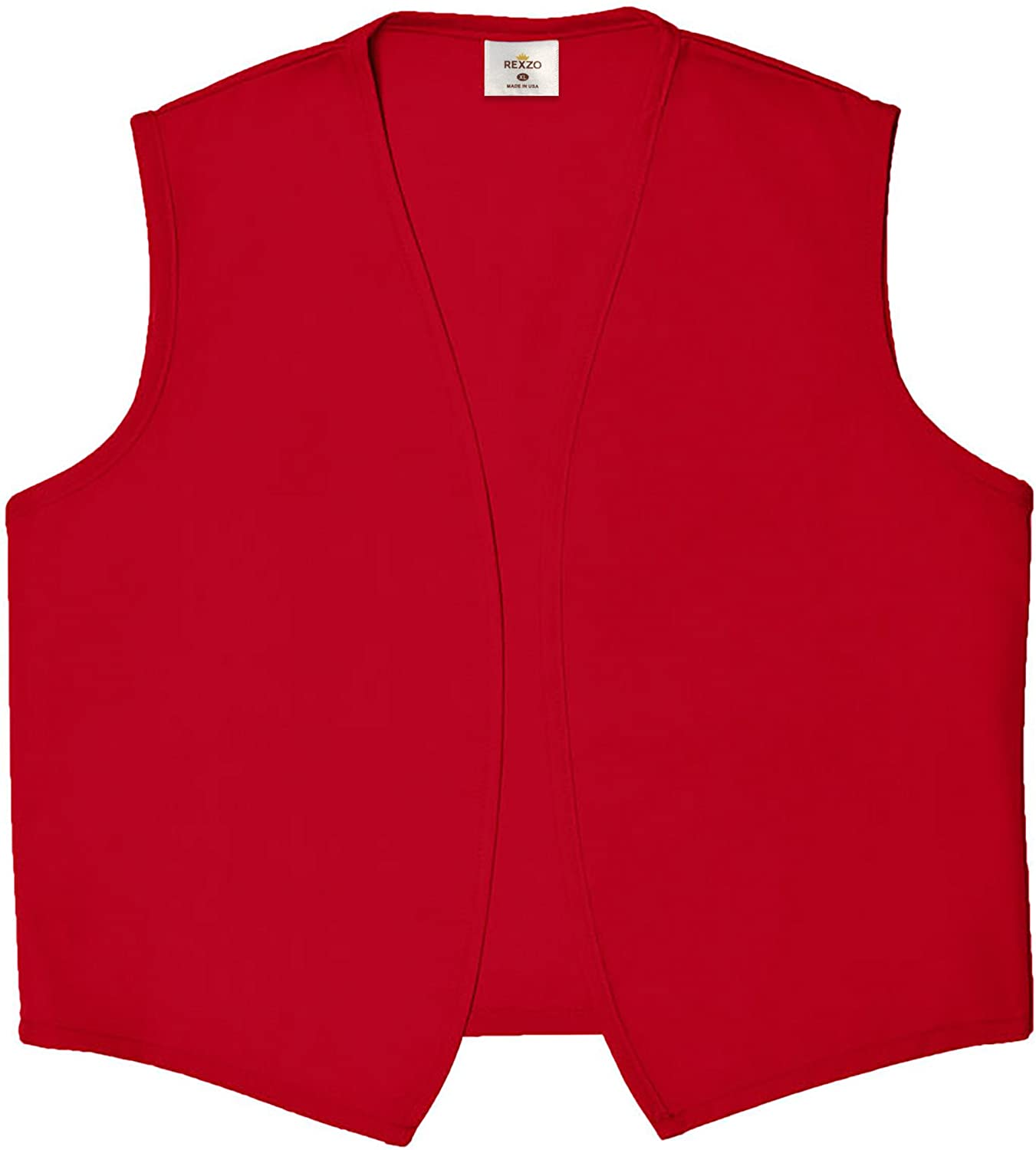 REXZO Unisex Vest No Pocket No Buttons– Made in The USA