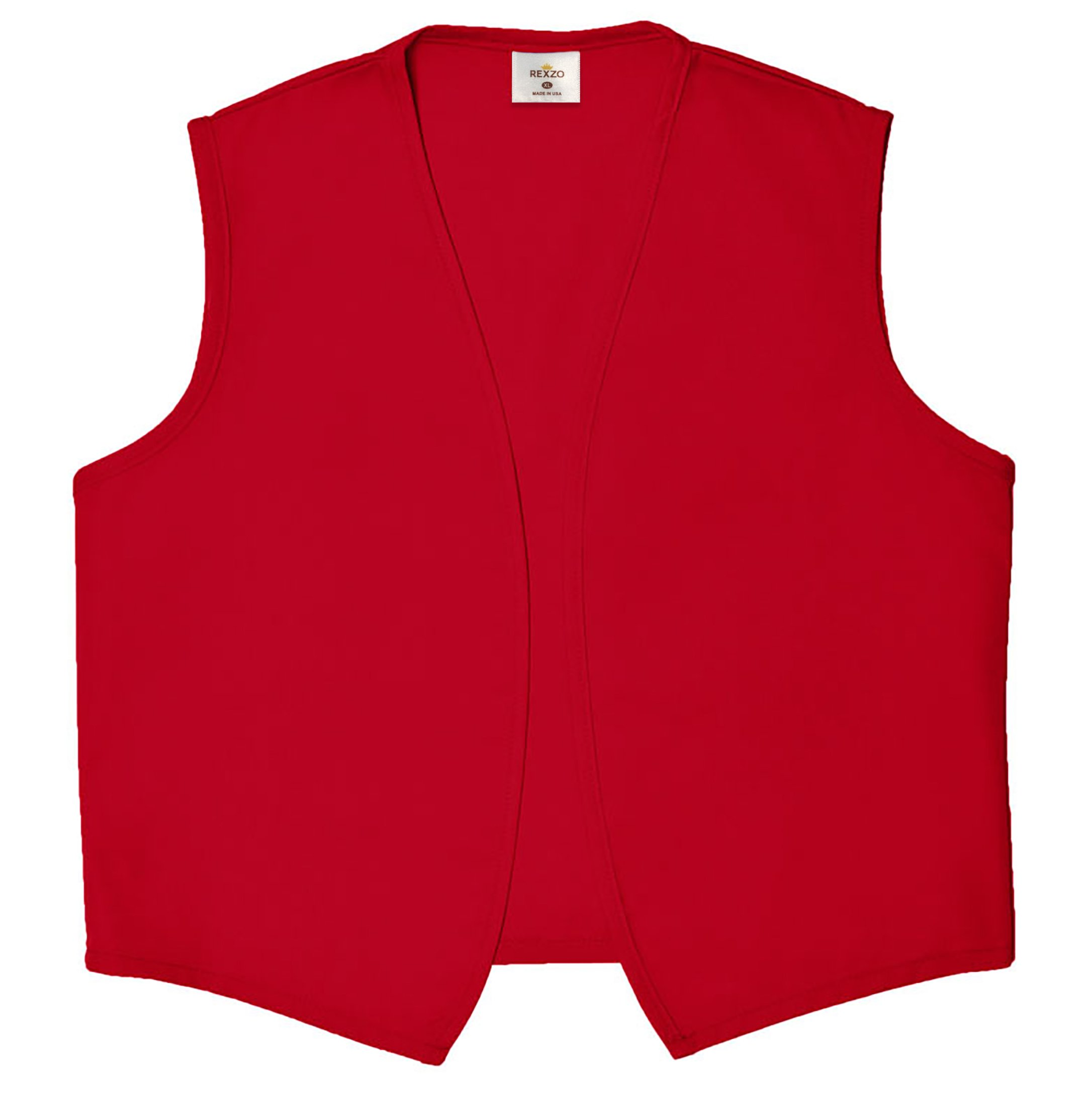 Unisex Vest No Pocket No Buttons- Made in The USA - Red, Medium by Rexzo