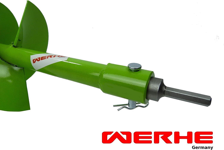 WERHE foret professionnel pour tari/ère 40 mm pile bien pr/écise double spirale carbure hartmetall eco couleur