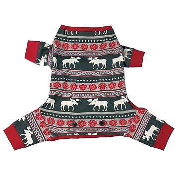 Amazon.com : LazyOne Dog Pajama FlapJack l (Moose Fair Isle, X ...