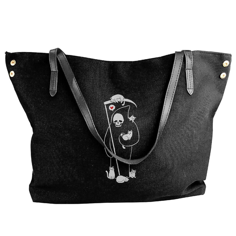 Death Is A Cat Person Women Shoulder Bags