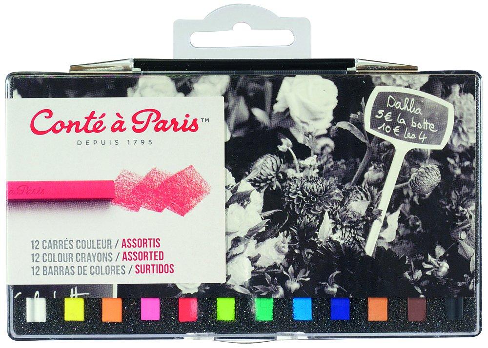 Conté à Paris 50130 Boîte de 12 Couleurs Carré Paysage Assorties reikos_0019522742AM_0044572 Couleur Carré