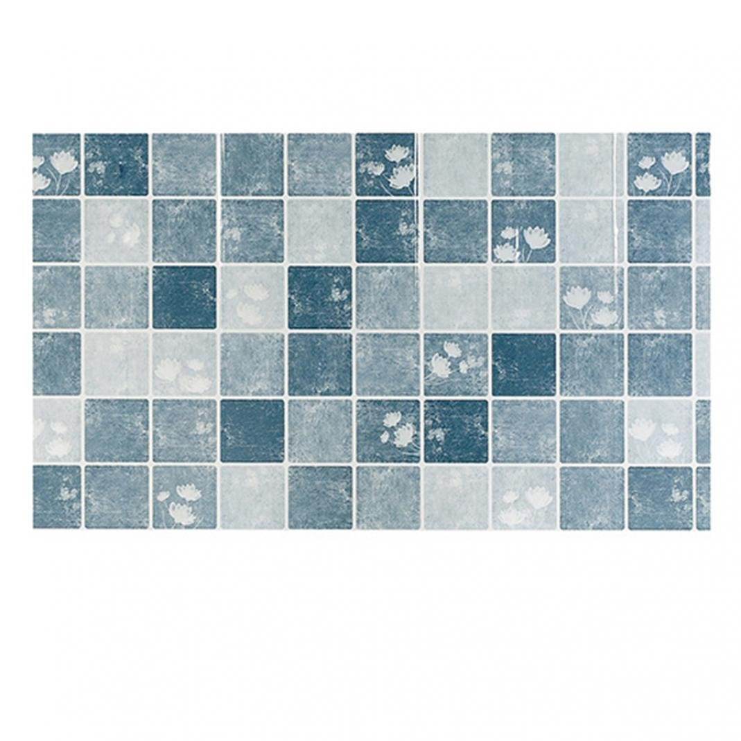 Amazon.com: Taiguang Plaid Pattern Kitchen Anti-oil Tile Stickers ...