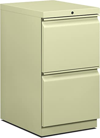 Charcoal HON H33820R.L.S 19-7//8-Inch Efficiencies Mobile Pedestal File with 2 File Drawers