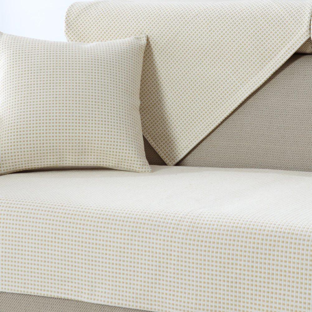 TY&WJ Baumwolle Sofabezug Leinen Anti-rutsch Schmutzabweisend Für Wohnzimmer Outdoor Haustier Hund & Kinder Couch-abdeckungen-A 70x150cm(28x59inch)