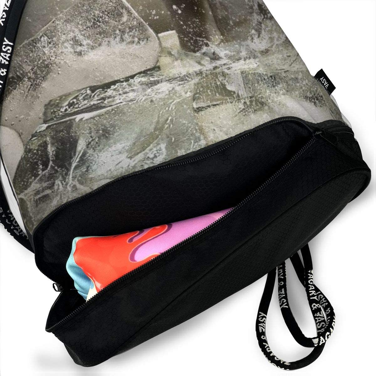 GymSack Drawstring Bag Sackpack Polar Bear Ice Sport Cinch Pack Simple Bundle Pocke Backpack For Men Women