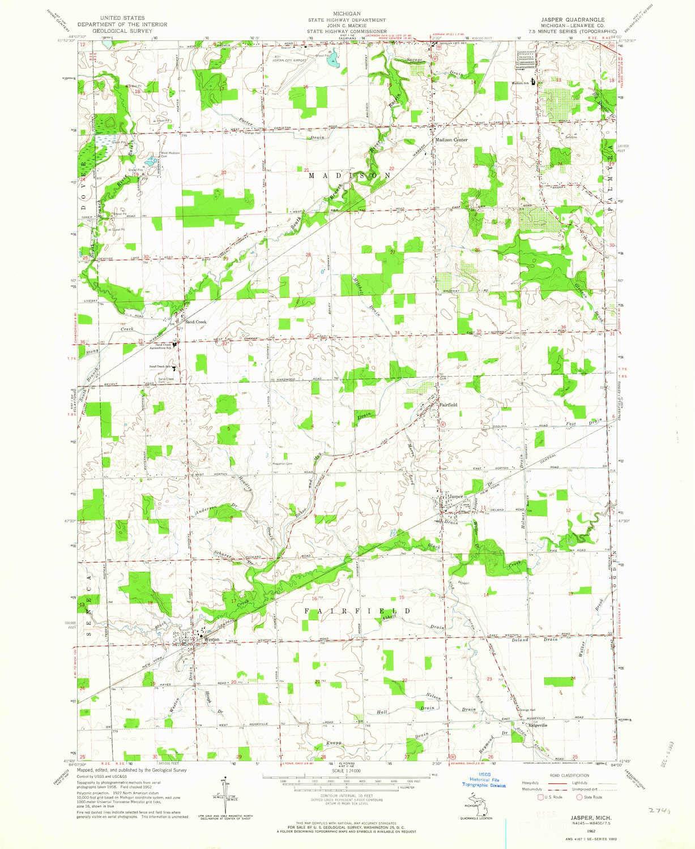 Amazon Com Yellowmaps Jasper Mi Topo Map 1 24000 Scale