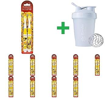 Brush Buddies, Emoji Toothbrush, Soft, 2 Pack(10 Packs)+ Assorted