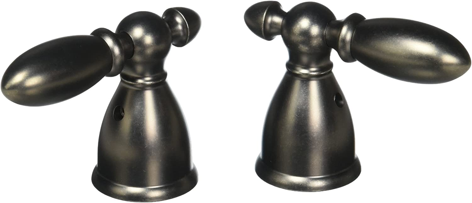 Delta Faucet H216PT Victorian Two Metal Lever Handle Kit Aged Pewter