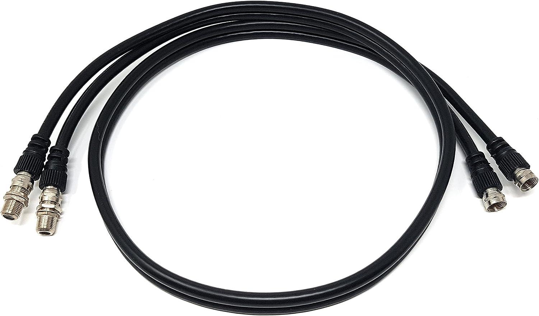MainCore - Cable coaxial doble satélite doble tipo F a enchufe RG6 ...