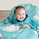 GRABEASE All Over Bib for babies and toddlers, BLW Bibs Covers baby and high chair, Place food on plate outline design Make s