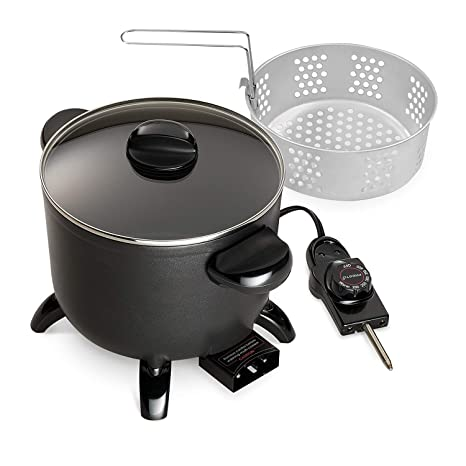 Amazon.com: Presto 06006 Kitchen Kettle Multi-Cooker/Steamer(Black versatile 11.5 x 9 x 8.5 inches): Kitchen & Dining