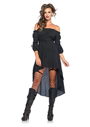 Amazon Leg Avenue Womens High Low Peasant Dress Costume Clothing