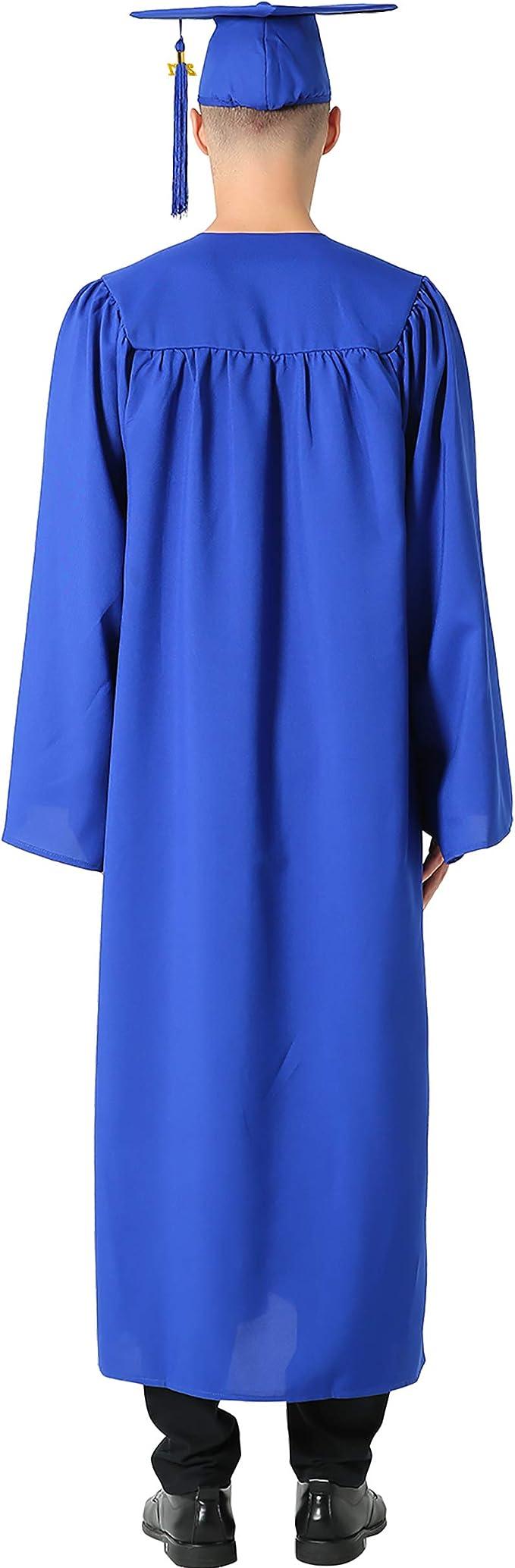 Chapeau Et Toge Dipl/ôm/é Adulte Graduation Robe 2020 Unisexe Pour Universitaire Graduation /École Homme Femme Unisexe Cap Gown Robe Costume,Black-45