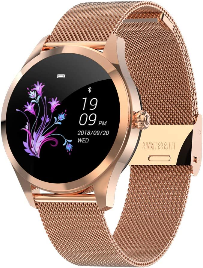 HKPLDE Smart Watch for Women/Activity Tracker Color Screen Heart Rate Monitor Touch Screen Sleep Monitor / 9 Sports Modes Calorie Counter for Android ...