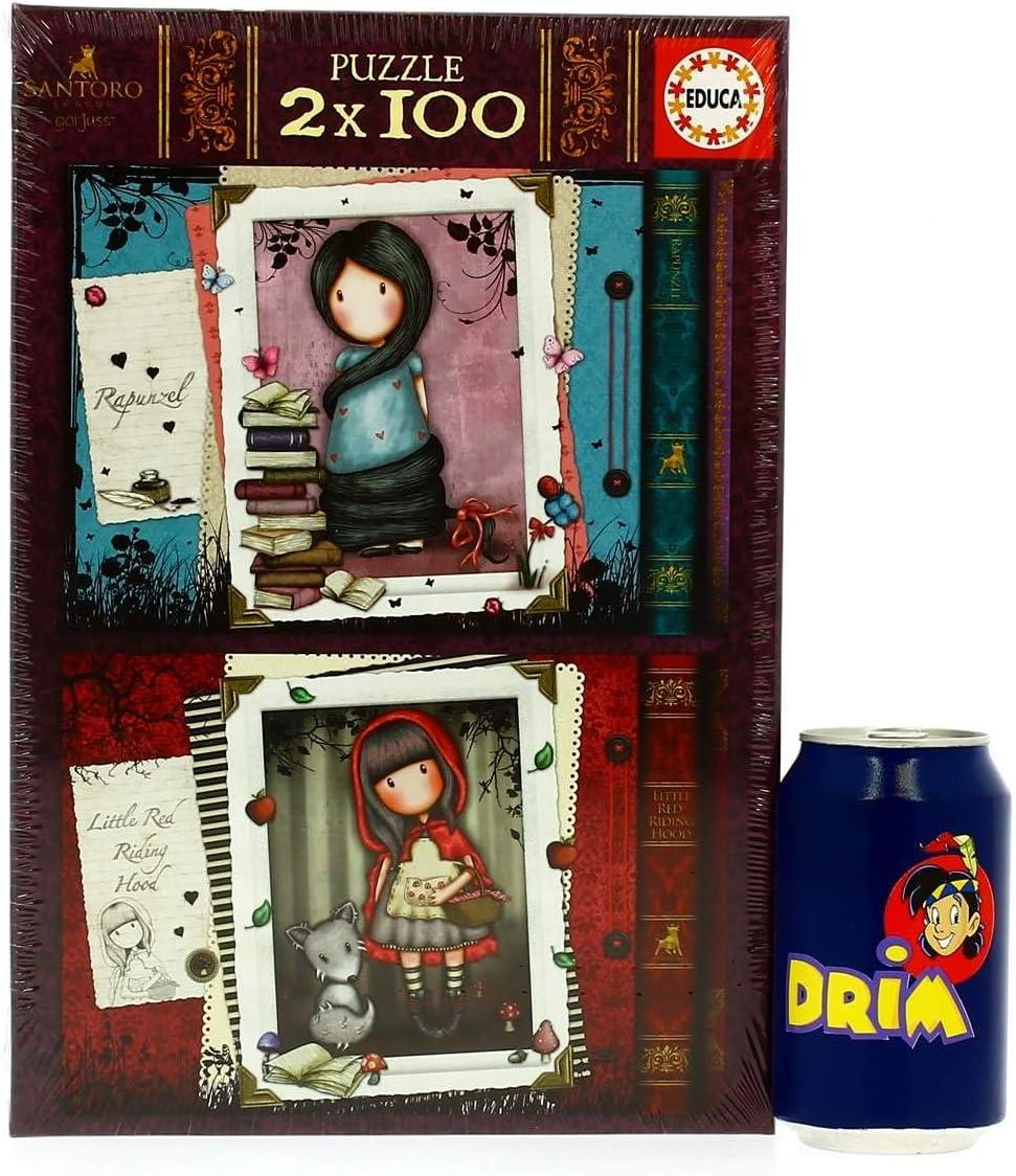 Educa - Little Red Riding Hood y Rapunzel Gorjuss, 2 Puzzles infantiles de 100 piezas, a partir de 6 años (17822): Amazon.es: Juguetes y juegos