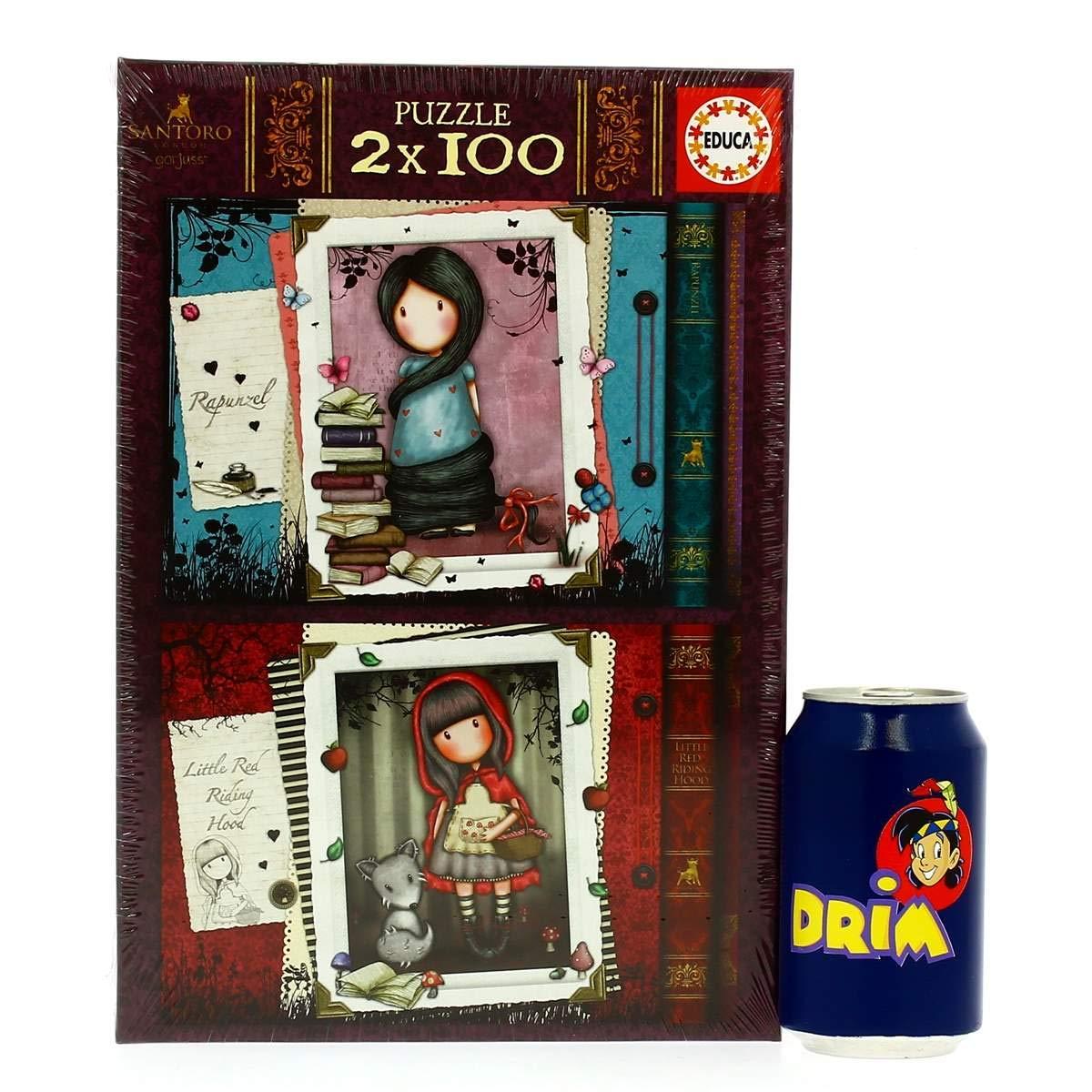 Hood17822 Puzzle 2x100 Borrás Educa Riding Red Little Gorjuss xeCorBd