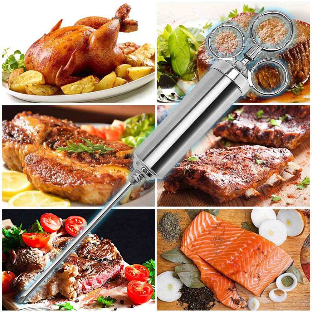 GEYUEYA Home BBQ Grill Tool Set Stainless Steel Barbecue Grill Accessories Utensils Kit in Portable Case 5-Piece Birthday Gift for Man