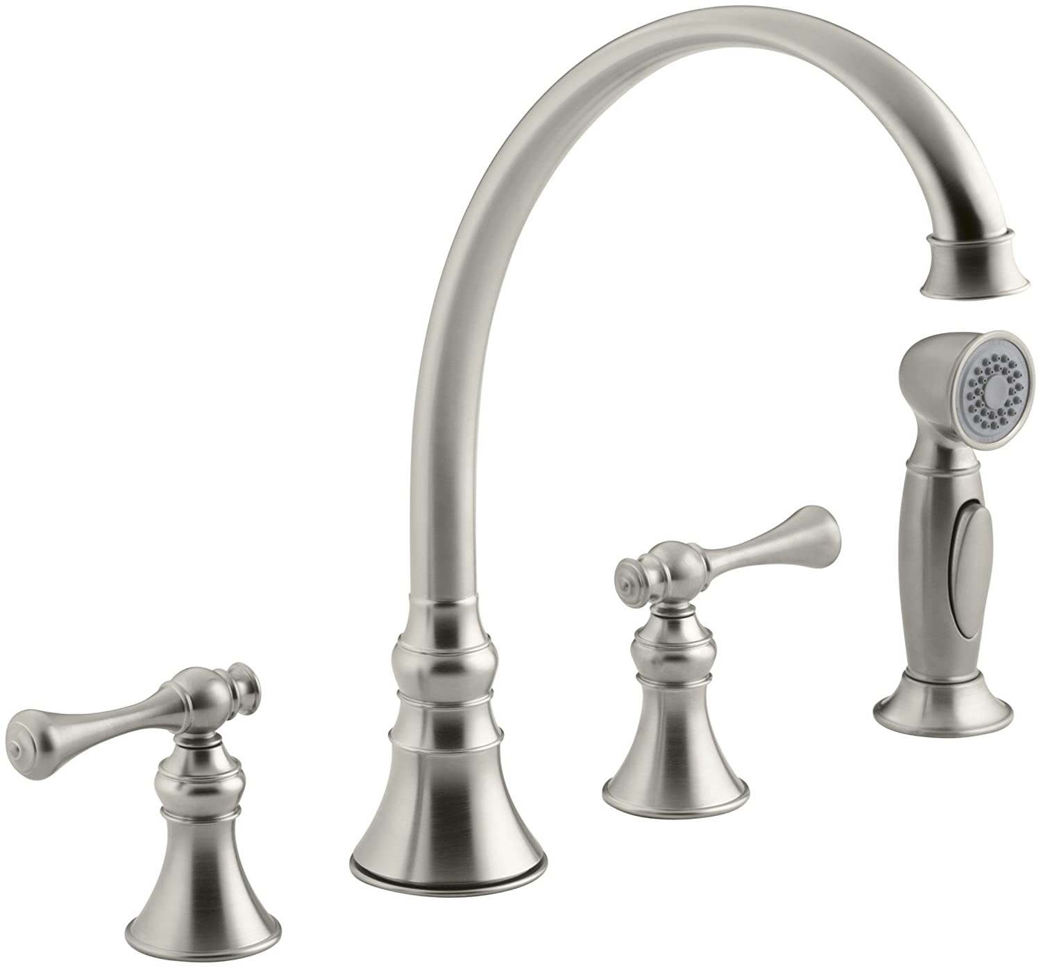 KOHLER K 16109 4A BN Revival Kitchen Sink Faucet, Vibrant Brushed Nickel    Touch On Kitchen Sink Faucets   Amazon.com