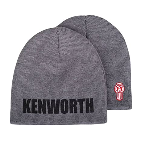 21b8cdf6bc2 Image Unavailable. Image not available for. Color  Kenworth Motors Charcoal  Gray Embroidered Knit Winter Beanie Hat