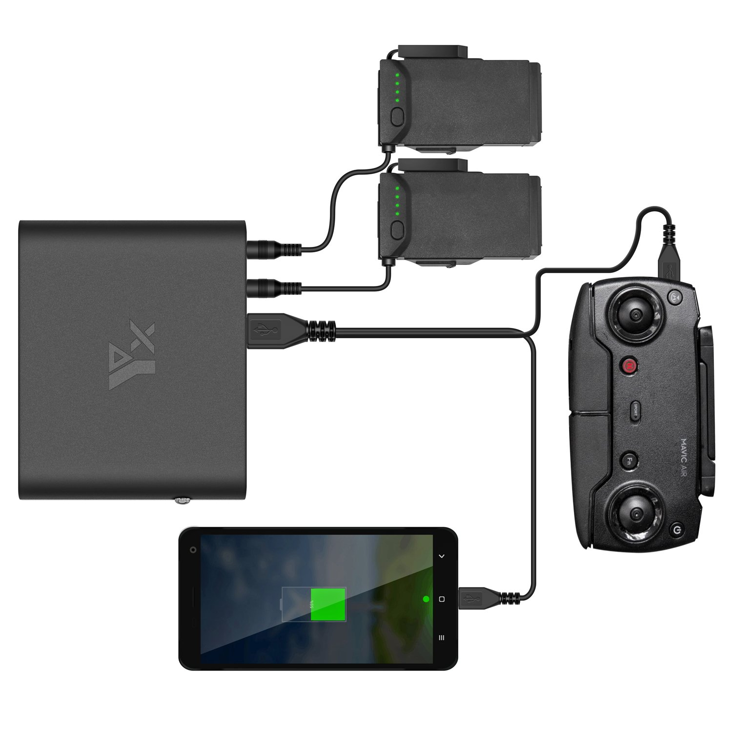Anbee 25000mAh Power Bank for DJI Mavic Air Drone, Outdoor Portable Battery Charger