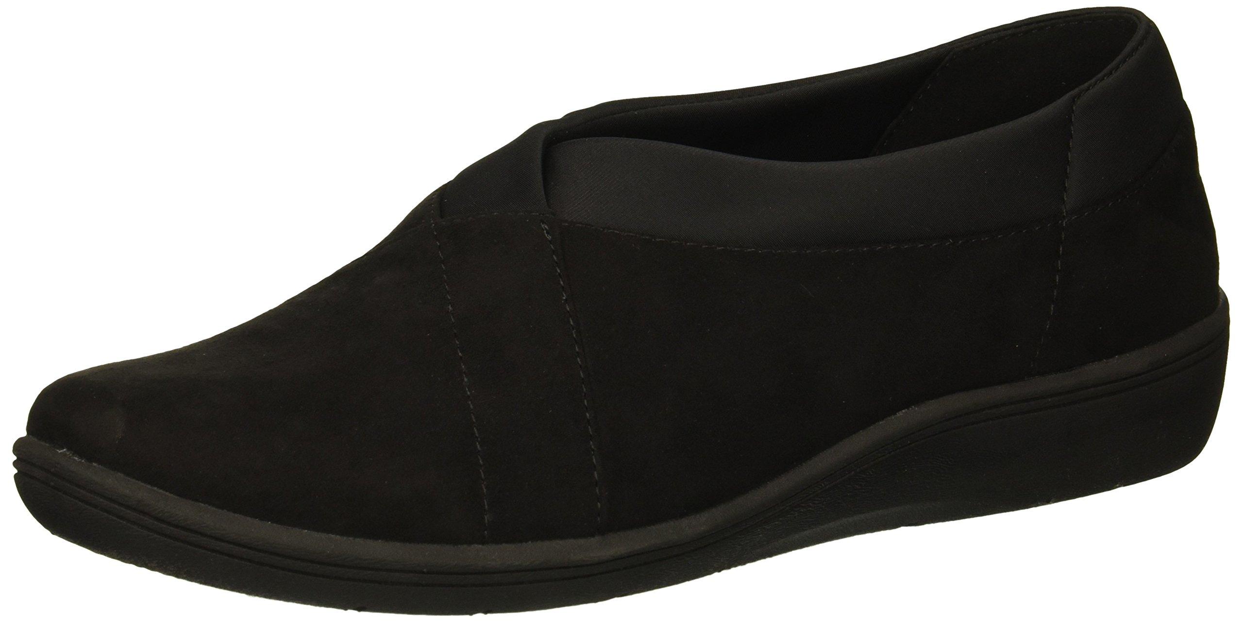Copper Fit Women's Restore Slip on Sneaker, Black, 7.5 M US