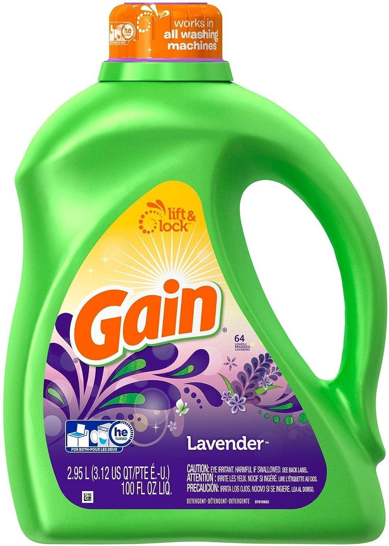 GAIN Liquid Detergent, Spring Lavender - 100 Oz