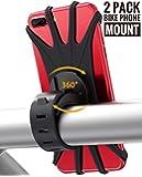 [2 Pack] Bike Phone Mount,Bicycle Phone Mount 360° Rotation,Universal Bike Phone Holder,Motorcycle Phone Holder,Bike Handlebars Fits iPhone Xs Max,X,XR,8/8Plus,7/7Plus,6s/6s Plus,Galaxy,S9,S8,S7