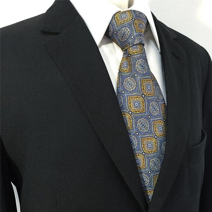 Shlax&Wing Gris Azul Amarillo Corbatas Para Hombre Traje de ...