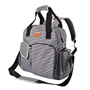 Sable Diaper Bag Backpack for Boys, Multi-Function Baby Care Waterproof Insulated and Cooler Tote Travel Backpack with 11 Spacious Pockets (Adjustable Straps, Nappy Bag, Tissue Pocket)