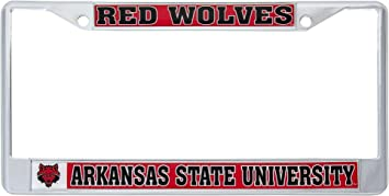 Desert Cactus Arkansas State University Red Wolves Metal License Plate Frame for Front Back of Car Officially Licensed Mascot