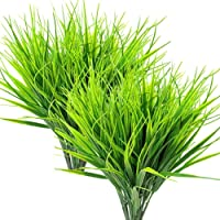 Ywoow Wheat Grass Fake Plastic Greenery Shrubs Wheat Grass Window 8 Pcs Artificial Outdoor Plants as Shows as Shows