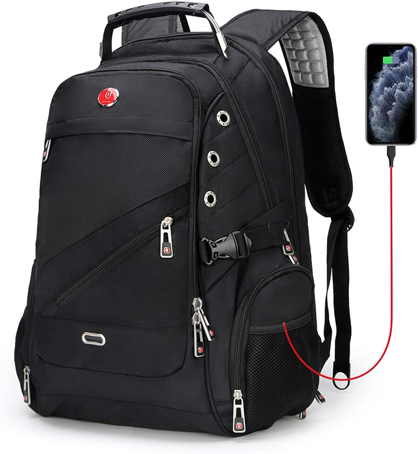 Anti-theft TSA Laptop Backpack with USB Charging Port and Waterproof, Extra Large Travel Backpacks for Women Men- Fits Most 17.3 Inch Laptops and Tablets OAA28115173B