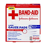 Band-Aid Large Gauze Pads, 10 Large Sterile Pads (Pack of 2)