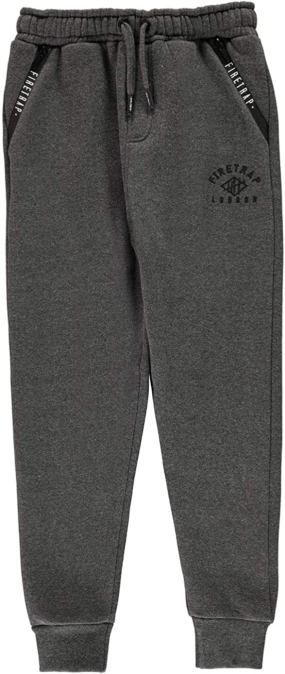 Firetrap Kids Boys Fleece Slim Joggers Junior Jogging