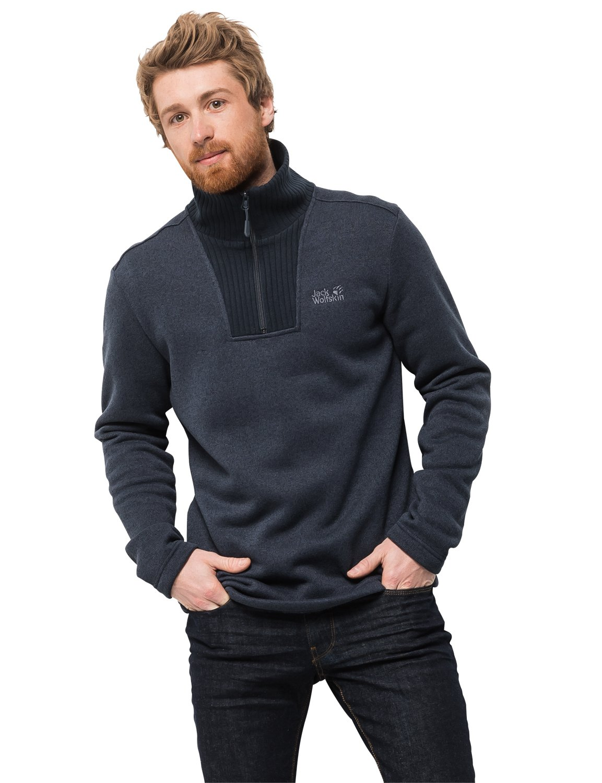 a585135fc166f Jack Wolfskin Men's Scandic Pullover Half-Zip Fleece Sweater: Amazon.co.uk:  Sports & Outdoors
