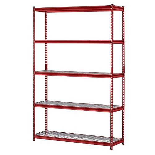 Muscle Rack UR184872 R 5 Shelf Steel Shelving Unit 48 Width X