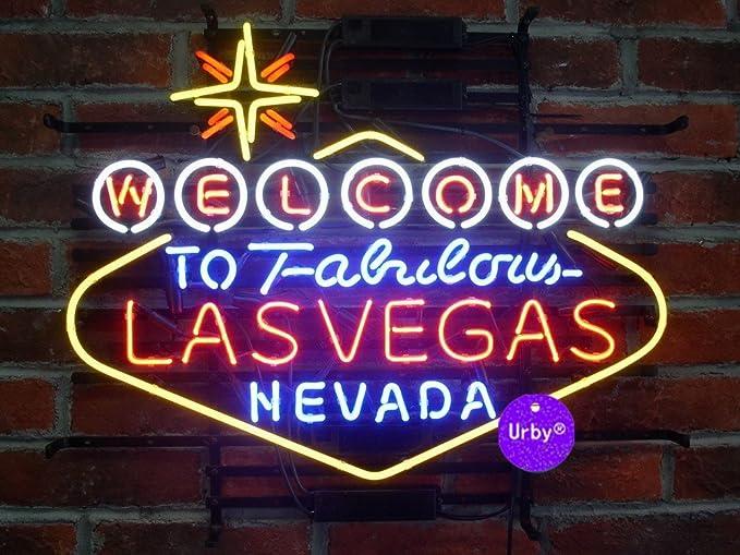 "New Welcome To Fabulous Las Vegas Bar Pub Decor Artwork Neon Light Sign 24/""x20/"""