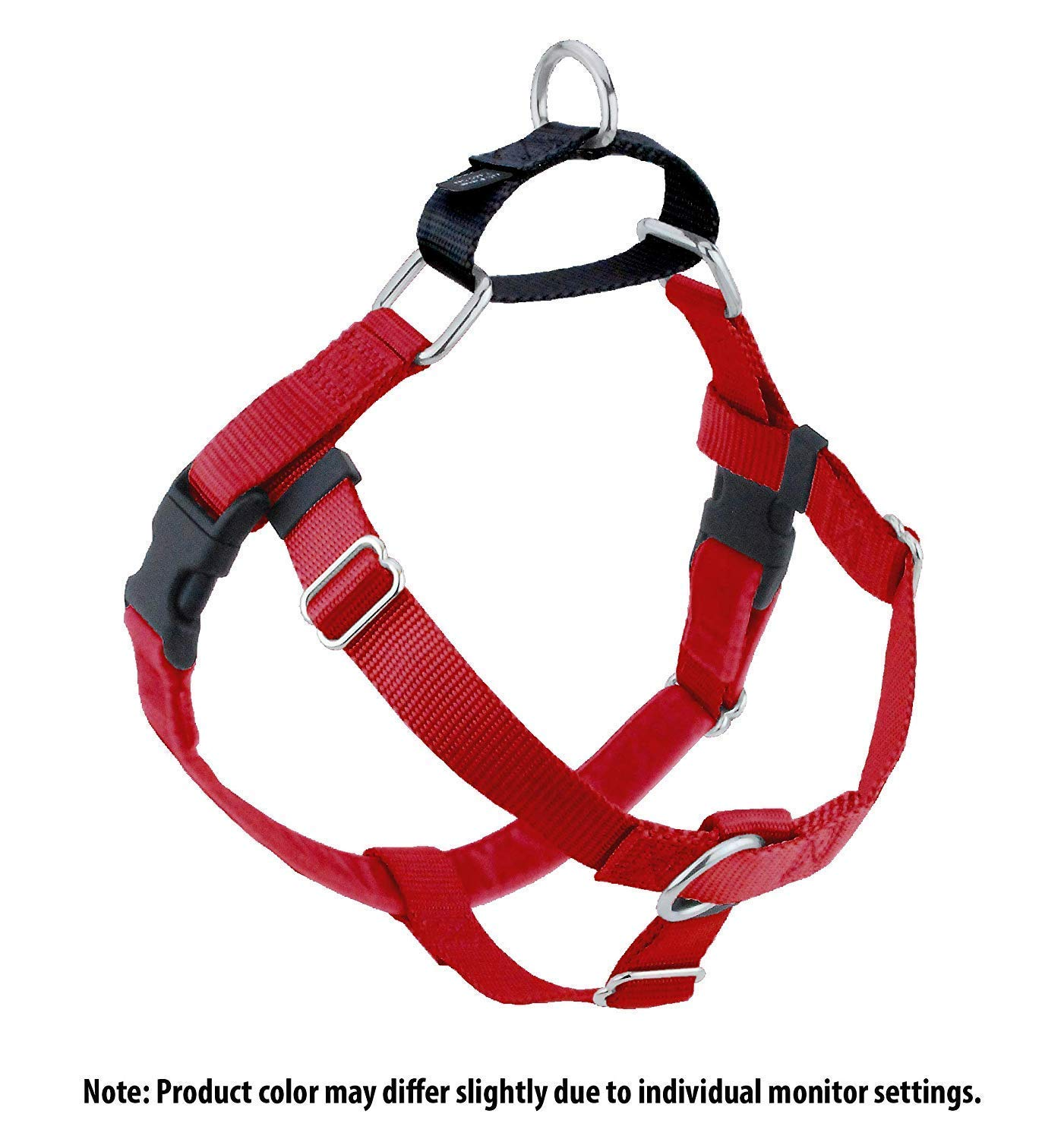 (Small (1.6cm Wide), Red) Wiggles Wags Whiskers Freedom No-Pull Dog Harness  Velvet Padding, Multi-Function & USA Made Lots of Sizes & Colours (Leash Not Included)
