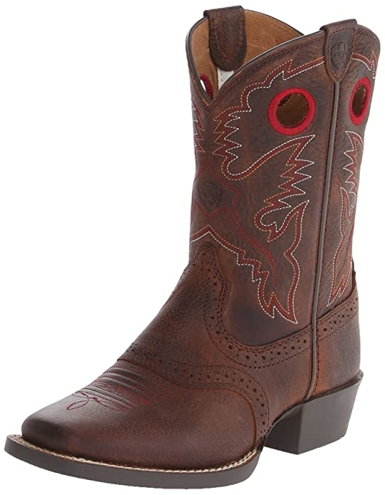 Kids' Roughstock Western Cowboy Boot, Brown Oiled Rowdy, 1 M US Little Kid