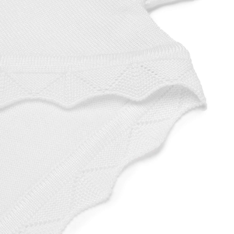 Colore: Bianco//Blu//Nero trudge Basic Bolero Giacca a Maniche Lunghe da Ragazza per Battesimo