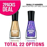 (2-Packs) Sally Hansen INSTA-DRI Fast Dry Nail Color, Quick Dry Nail Polish (Whirlwind White)